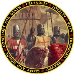 Crusader Knights Painted on the March Seal